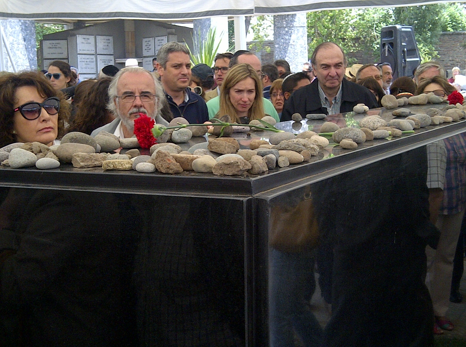 Memorial service at the Jewish cemetery, Santiago, Chile, 2013