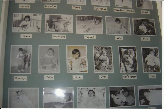 At the entrance to the hospital hang the pictures of children born at the hospital in 1960s and 1970s.
