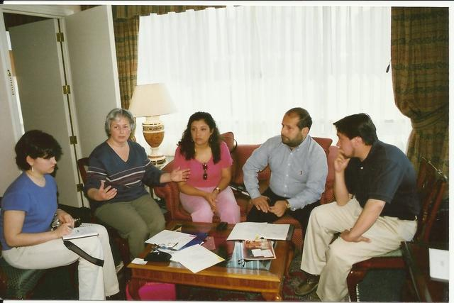 December 2000. Weisfeilers first trip to Chile: meeting with attorney Hernan Fernandez and reporter Viviana Candia.