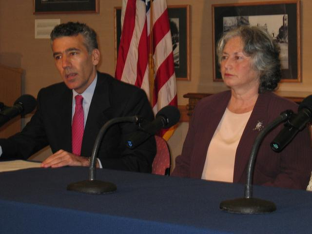 March 2004. Santiago, the U.S. Embassy: a news conference with Chargé d'Affaires Philip Goldberg and Olga Weisfeiler