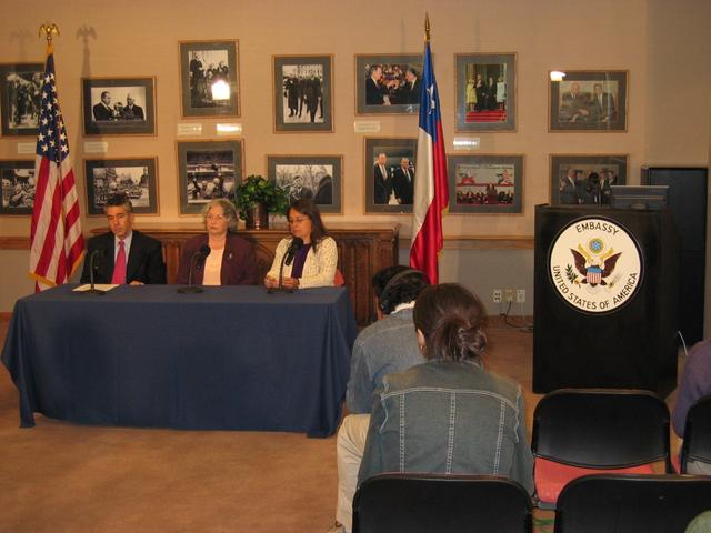 2004. Santiago, a news conference was announcing a campaign to seek information about the fate of U.S. citizen Professor Boris