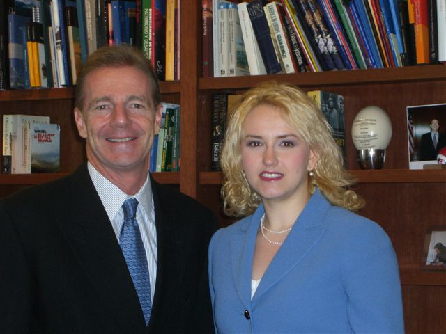 2007. The U.S. Ambassador to Chile, Craig Kelly, and Anna Weisfeiler.