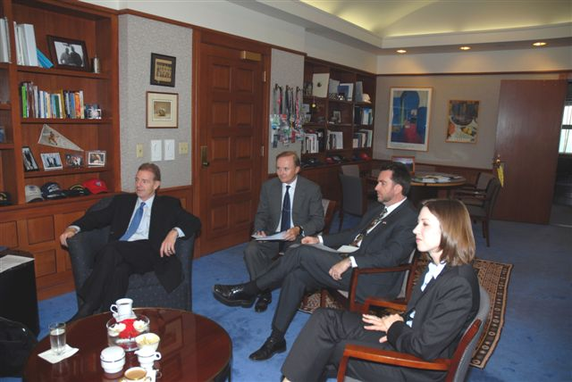 2007. Meeting with the U.S. Ambassador, Craig Kelly, and other officers of the U.S. embassy.