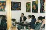 "2002. In search for information Olga Weisfeiler had a talk at ""Off the Record"" cafe."