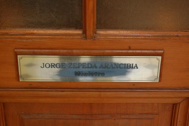 Santiago. The Supreme Court. Office of Judge Jorge Zepeda.
