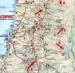 "Map of the area where Boris Weisfeiler was hiking and disappeared on January 4 1985 (""Rutas de Chile 2002"" Copec)."