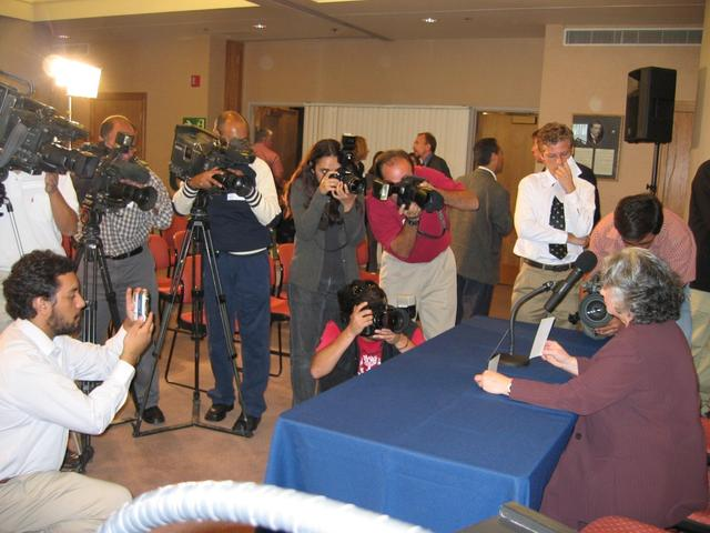 March 2004: more then twenty reporters from different world press agencies, newspapers, and TV stations were at news conference.