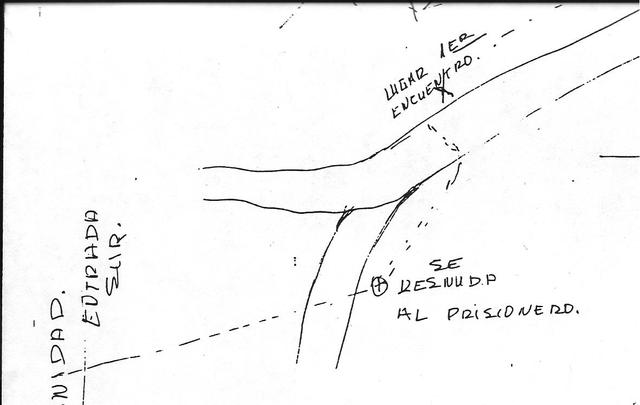 "1987. The US document: Map drawn by an informant ""Daniel""."