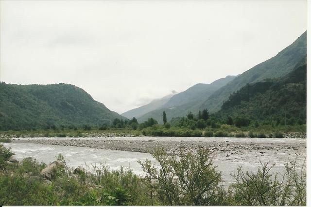 2002. The confluence of Los Sauces and Nuble Rivers.
