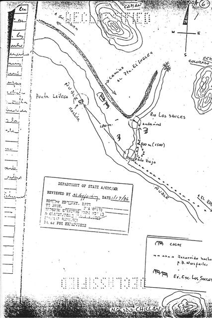 1985. The US document: a hand-drawn by the first judge map of the exact area where Weisfeiler disappeared in January 1985.