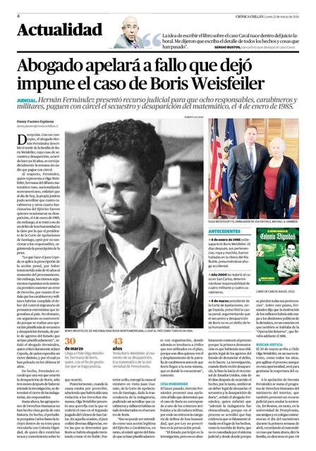 March 2016.  One of the many publications in Chile on the Weisfeiler case closure.